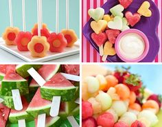 Photo: Even more great ideas with fruits for a children's birthday party. - Delicious Meets Healthy: Quick and Healthy Wholesome Recipes Healthy Kids, Healthy Snacks, Cute Food, Good Food, Desserts Crus, Party Buffet, Snacks Für Party, Food Humor, Creative Food