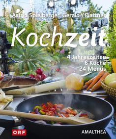 """Kochzeit – 6 Köche – 4 Jahreszeiten = 24 Menüs. Erschienen ist das Buch im Amalthea Verlag. Wow das ist echt eine Menge an Rezepten und Informationen präsentiert von den ORF Köchen, die in der Sendung """"Willkommen Österreich"""" gekocht haben. Dazu gehören Ulli Amon-Jell, Wini Brugger, Hannes Müller, Norbert Payr und Ingrid Pernkopf (die kenn ich ja schon von der leckeren Knödelküche). Chicken, Food, Essen, Meals, Yemek, Eten, Cubs"""