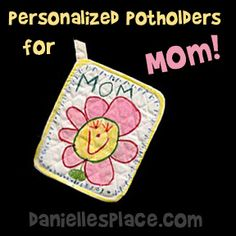 Pot Holder Craft Kids Can Make for Mother's Day from www.daniellesplace.com