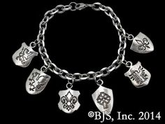 Harry Dresden's Shield Bracelet with Sterling Silver Charms