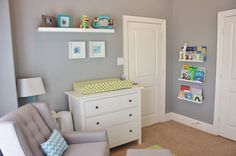Project Nursery - Yellow, Gray and Aqua Nursery Glider : Target