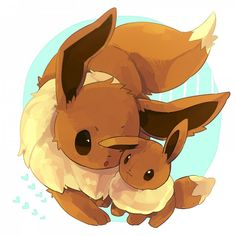 Eevee closely examines a plushie of itself. Pokemon Eeveelutions, Eevee Evolutions, Pokemon Images, Pokemon Pictures, All Pokemon, Cute Pokemon, Eevee Wallpaper, Different Art Styles, Cute Pictures