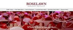 Roselawn Banquet Facility - #Cheap #wedding and #reception #venue just outside of #Utica, #NY. Max 400 guests. Buffet pkgs start at $13.50/pp, with bar packages required for all weddings. (Min. $11.95/pp.) #upstateny #cny #rome #nymills #mohawkvalley Cheap Wedding Venues, Wedding Ceremony, Reception, Wedding Ideas, Banquet Facilities, Brunch Menu, Rome, Buffet, Cocktails