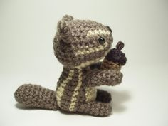 #Crocheted #Chipmunk & His Acorn Stuffed Animal Toy #amigurumi