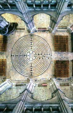 Chartres Labyrinth, Chartres Cathedral, Chartres, France