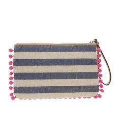 Loft - Womens Accessories: Fashion Accessories, Shoes, Jewelry, Bags: LOFT - Paisley Pom Pom Pouch - $24.50