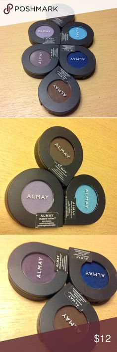 Sealed - New! 6 Almay EyeShadow Lot + FREE GIFT FACTORY SEALED MAKEUP BUNDLE - LOT of 6 - ALMAY SHIMMER EYE SHADOW COMPACTS of high pigment - TRUE BLUE -HOT CHOCOLATE BROWN -l LAVENDER - SKY BlUE - PLUM- KOHL -   🎁 one free NEW MYSTERY thank you GIFT 🎁        💄😊Price Firm 😊💄Thank you  #makeupbundles ,#makeuplots , #makeuplot,#freeshipping,#freegifts ,#free, #cheap, #eyeshadow #blue,, #brown #shimmer Almay  Makeup Eyeshadow