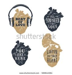 Hand drawn textured romantic posters with human heart, headphones, gramophone horn vector illustrations and lettering on the white background. Skull Anatomy, Anatomy Art, Day Of The Dead Art, Skeleton Art, Floral Skull, Candy Skulls, Medical Art, Sugar Skull Art, Skull Decor