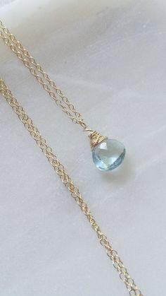 Topaz necklace, Moonstone Necklace, Gold Topaz Necklace, Blue Topaz Necklace…