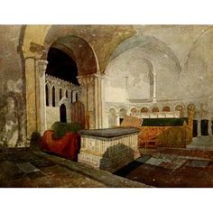 posterazzi walkers quarterly 1926 norwich cathedral interior 1 canvas art john sell cotman 24