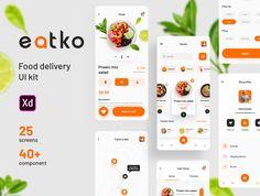 Food Web Design, App Ui Design, Mobile App Design, Mobile Ui, Interface Design, Flat Design, Design Design, App Delivery, Design Thinking