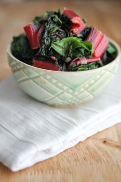 Chard is a great source of vitamin K, A and C, and is a wonderful cauldron of potassium, magnesium, iron and fiber. It is high in antioxidants, making it another great super food. Oh, and it's low in calories. A single serving is merely 35 calories, yet contains more than 300% of your daily vitamin K needs. It is also rich in a multitude of B-complex vitamins.