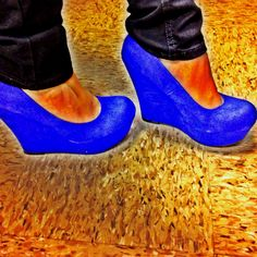 Blue wedges!' love em