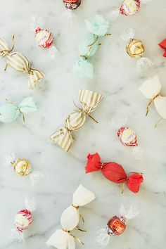 For a simple and sweet delight, DIY custom wrapped truffles. All you need is ribbon, decorative paper and a handful of LINDOR truffles!