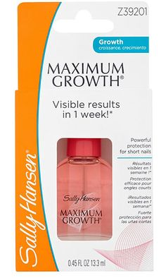 Sally Hansen Maximum Growth Nail treatment Sally Hansen Maximum Growth Nail treatment 13.3ml 1: Express Chemist offer fast delivery and friendly, reliable service. Buy Sally Hansen Maximum Growth Nail treatment 13.3ml 1 online from Express Che http://www.MightGet.com/january-2017-11/sally-hansen-maximum-growth-nail-treatment.asp