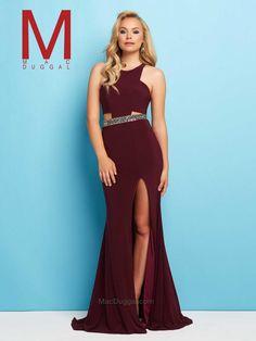 Burgundy Prom Dress | Mac Duggal 65500L