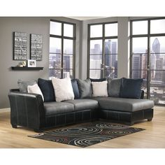 Signature Design by Ashley Masoli Cobbelstone Corner Chaise and Sofa Sectional | Overstock.com Shopping - The Best Deals on Living Room Sets