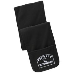 Rottweiler - Property Of A Rottweiler - Fleece Scarf with Pockets