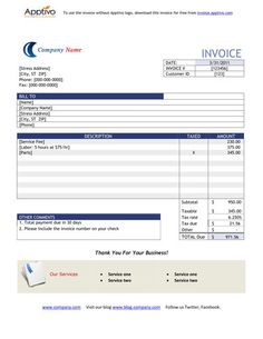 basic rent receipt - microsoft word template and pdf printout, Invoice templates