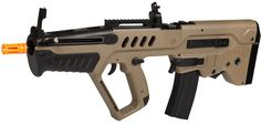 Israeli TAR-21 Licensed Tan FPS-350 Electric Airsoft Rifle Combo Pack