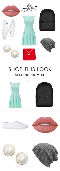 """""""Be diffrent"""" by fashion123450 ❤ liked on Polyvore featuring Kate Spade, Rains, Lime Crime and Alexa Starr"""