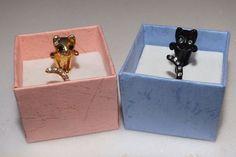 Anel de Gato (kit preto e dourado) - Mundo Miau