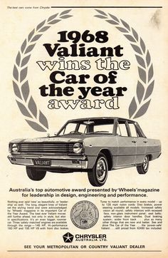 Chrysler Valiant, Australian Muscle Cars, Plymouth Valiant, Chrysler Cars, Car Brochure, Retro Images, Suzuki Gsx, Vintage Ads, Vintage Stuff