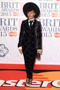 Le tapis rouge des Brit Awards 2015 - Nacelle Monae