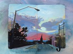 Missy Dunaway fills Moleskine journals with beautiful paintings and then sells them! Art journal / sketchbook inspiration.
