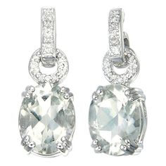 Vir Jewels Sterling Silver Green Amethyst Earrings (3.50 CT) ** Read more  at the image link.