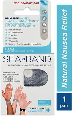Sea-Band Anti-Nausea Acupressure Wristband for Motion or Morning Sickness, Adult, 1 Pair Cures For Morning Sickness, Morning Sickness During Pregnancy, How To Relieve Nausea, Anti Nausea, Nausea Relief, Feeling Nauseous, Acupressure Points, Drug Free, Cruise Tips