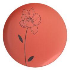 Floral art plates