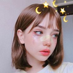 Ulzzang and aesthetic girl. do u wear a makeup? Kawaii Makeup, Cute Makeup, Pretty Makeup, Makeup Art, Beauty Makeup, Makeup Looks, Hair Makeup, Hair Beauty, Makeup Ideas
