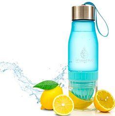 | nFused H2O® Citrus Fruit Infuser Water Bottle w/ Lemon Juicer - Large 24 Ounce