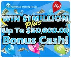 PCH Sweepstakes Gwy.4950 and Gwy.4902 - PCH Win $1 Million SuperPrize and up to $50,000.00 Bonus...