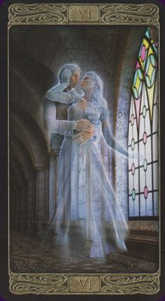 Example card from the Ghost Tarot deck. DISCOVER MORE: http://www.tarotacademy.org/the-ghost-tarot/