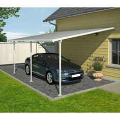 Palram Feria™ 12' x 9' - Protect from harsh weather and UV radiation with an elegant, durable and maintenance-free carports and multi-purpose outdoor structures, also ideal as standalone pergolas