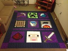 minecraft quilt - need to make this for my grand daughter.