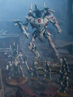 40k - Eldar Biel-Tan Wraith Forces by Jon Law via gamesworkshop.com