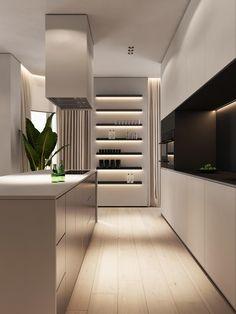 40 Nice Interior Design Around Walnut Wood Finishes Ideas Contemporary Interior Design, Modern Kitchen Design, Bathroom Interior Design, Decor Interior Design, Kitchen Interior, Interior Decorating, Decorating Ideas, Decoration Ikea, Futuristisches Design