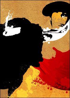Obra de César Núñez que ilustrará el cartel de las corridas de agosto Dom Quixote, Spanish Posters, Illustration Sketches, Picasso, Animal Photography, Artsy Fartsy, Vintage Posters, Modern Art, Graffiti