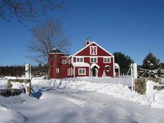 Freshly Fallen Snow On A Farm  Hamilton, Massachusetts
