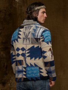 patchwork cardigan #menswear
