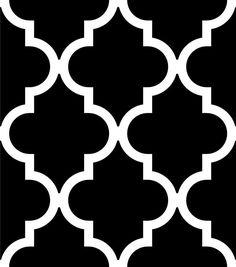 Quatrefoil Inverse Stencil - Dixie Belle Paint Co. Printable Stencil Patterns, Wall Stencil Patterns, Stencil Designs, Paint Designs, Bird Stencil, Damask Stencil, Cuadros Diy, Porch Paint, Moroccan Stencil