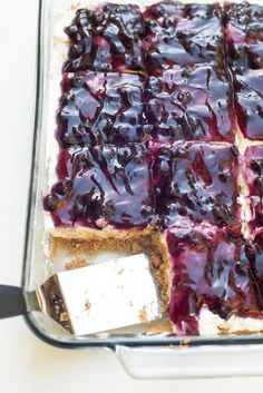 Easy Blueberry Cheesecake Dessert -- Part of The Best Blueberry Recipes