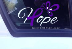 Hope w/ Light Blue Awareness And Ribbon Butterfly Decal (Cushing Syndrome, DiGeorge, Graves Disease, Prostate cancer, trisomy behcets) Brain Tumor, Brain Injury, Awareness Ribbons, Cancer Awareness, Diabetes Awareness, Endometriosis Awareness, Rett Syndrome, Congenital Heart Defect, Graves Disease