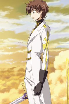Suzaku Kururugi, is Lelouch's childhood friend and son of Japan's last prime minister, Genbu Kururugi. He murdered his father when he was a child in the belief that it would end the war between Britannia and Japan, but only paved the way for Japan's conquering. Traumatized, he also begins to find a way to liberate Japan.