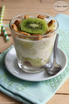 #Dessert al #kiwi e #mela #ricetta #foodporn #gialloblogs