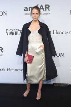 Model  Zuzanna Bijoch attends the 2015 amfAR New York Gala