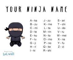 Your Ninja Name